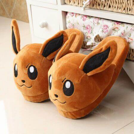 Winter lovely Home Slippers Cartoon Pokemon Warm Shoes Women Cosplay Unisex Cartoon Cotton slippers shoes 2