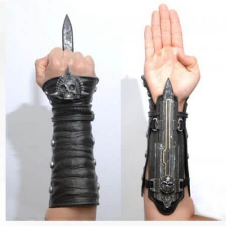 Assassins Creed Hidden Blade Sleeve Sword Figure Hidden Blade Edward Weapons Sleeves Swords Can The Ejection Cosplay Tools 3