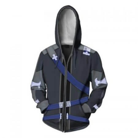 Anime Sword Art Online Hooded Sweater Cosplay Costume Kirigaya Kazuto Kirito Hoodies Sweatshirt Zipper Jacket Coat For Men Women 1
