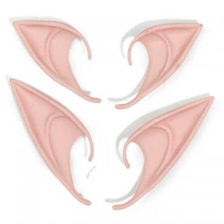 1 Pair Elf Ears fairy Cosplay Accessories Latex Soft Prosthetic False Ear Halloween Party Masks Cos Mask