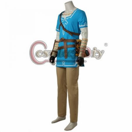 Cosplaydiy The Legend of Zelda Breath of the Wild Link Cosplay Costume Adult Men Halloween Carnival Outfit Full set Custom Made 2