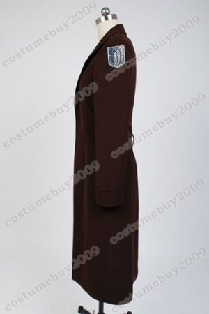 Attack on Titan Shingeki no Kyojin Eren Jaeger Rivaille Cosplay Costume Long Coat Jacket Cape 4