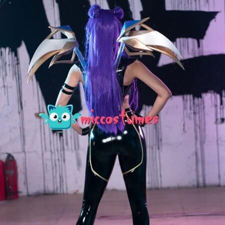 Game LOL K/DA Pop Star Girls Kai'Sa Cosplay Costume Woman Halloween Outfit Costume 2
