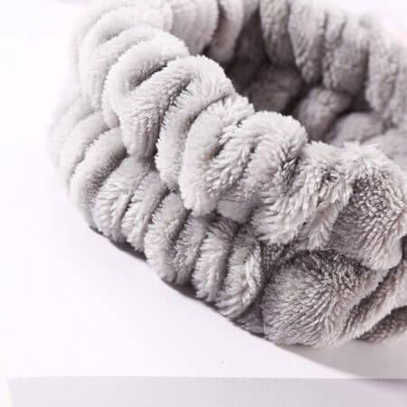 Women Girls Cute Coral Fleece Cat Ears Elastic Headbands Soft Comfortable Wash Face Bath Hairbands Photo Prop Hair Accessories 3