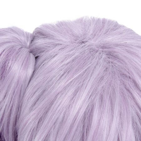 ROLECOS Game Character LOL Cosplay Headwear Luxanna Cosplay 30-45cm Dark Element SKin Cosplay White Purple Cosplay Hair 3