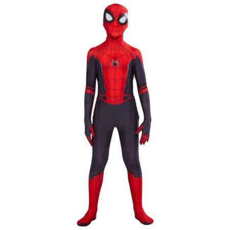 Kids Spider Man Far From Home Peter Parker Cosplay Costume Zentai Spiderman Superhero Bodysuit Suit Jumpsuits Halloween Costume 2