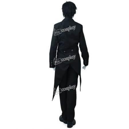 Anime New Hot Black Butler Sebastian Michaelis Cosplay Costume Halloween Unisex Party Clothing 2