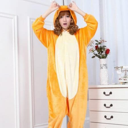 Japan Adult Pokemon Pikachu Kigurumis Cosplay Footed One Piece Pajamas Onesie Costume Fleece Clothing Children's animal pajamas 3