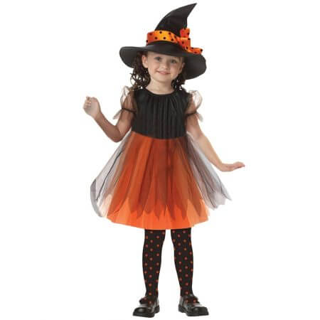 2019 New Arrival Halloween Party Children Kids Cosplay Witch Costume For Girls Halloween Costume Party Witch Dress With Hat #30 2