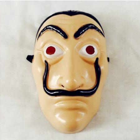 Salvador Dali Movie The House of Paper La Casa De Papel Cosplay Party Halloween Mask Money Heist Costume & Face Mask 3
