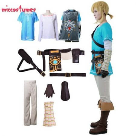 Link Cosplay Costume Male Outfit Cloak The Legend of Zelda: Breath of the Wild 5