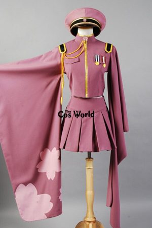 Vocaloid Hatsune Miku Senbonzakura Kimono Uniform Dress Outfit Anime Cosplay Costumes Whole Set 1