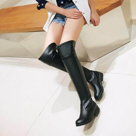 2017 women Attack on Titan cosplay long boots Shingeki no Kyojin Over-the-Knee boots Eren Jaeger Ackerman Shoes 3