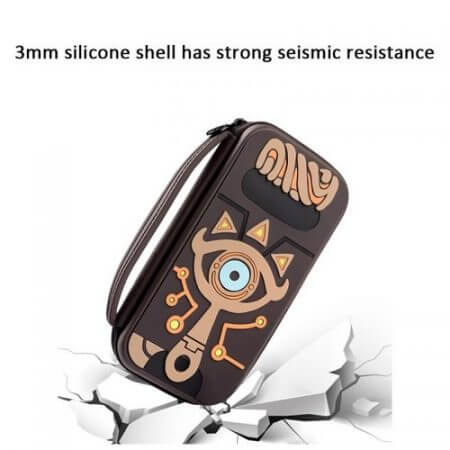 The Legend of Zelda Sheikah Slate Carrying Storage Bag Switch Water-resistent Case Bags Silica Gel 3