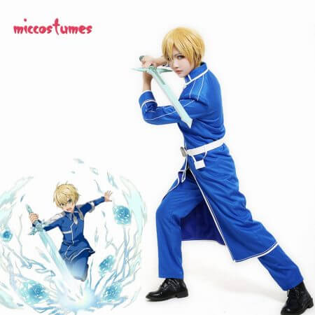 Sword Art Online Alicization Eugeo Cosplay Costume Uniform Men Halloween Outfit