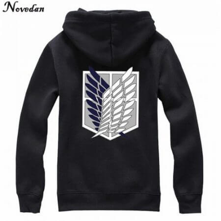 Novedan Anime Attack On Titan Cosplay Costumes Hoodie Green Black Scouting Legion Hooded Jacket For Women Men 4
