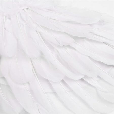 YiZYiF Children's White Feather Angel Wings for Dance Party Cosplay Costume Stage Show Masquerade Carnival Holiday Fancy Dress 4