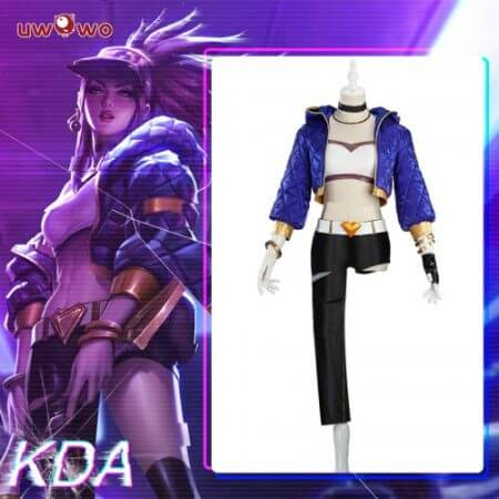 UWOWO Sexy Cosplay VERSION Game League Of Legends K/DA Akali Cosplay Costume For Women 1