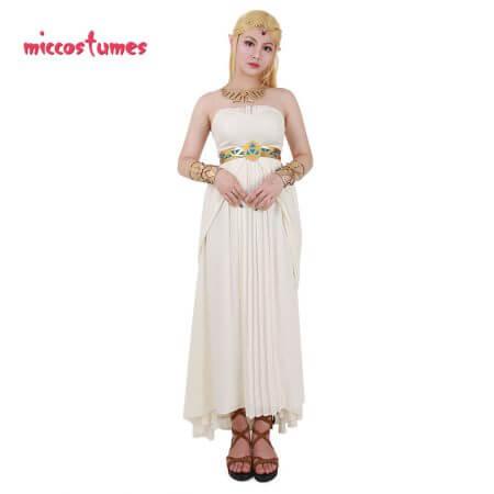 The Legend of Zelda: Breath of the Wild Princess Zelda White Dress Cosplay Costume 2