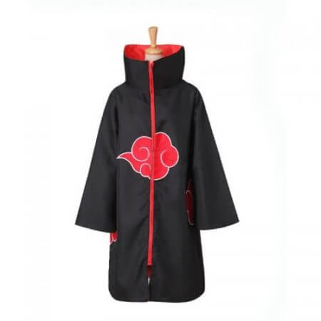 Anime Naruto Akatsuki Cloak Cosplay Costume Uchiha Itachi Ring Headband Women Men Gifts 1