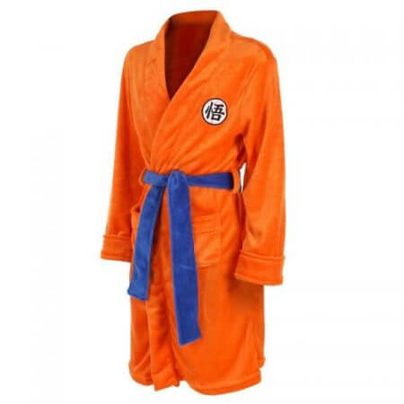 2018 Adult Bathrobe Dragon Ball Cosplay Son Goku Costume Bath Robe Sleepwear Pattern Plush Robe Women Men Pajamas Cartoon