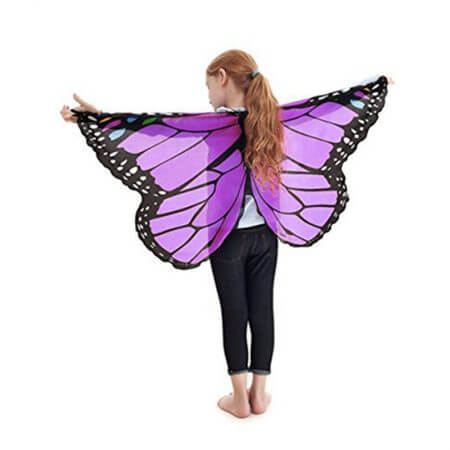 Fairy tale princess cosplay costume Butterfly Wings Shawl Cape Stole Kids Boys Girls Scarf Wrap accessories 2