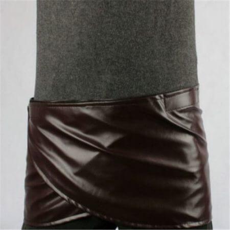 Takerlama Cosplay Attack on Titan Shingeki no Kyojin Leather Skirt Hookshot Belt Costume Chocolate Leather Apron Belt Skirt 3