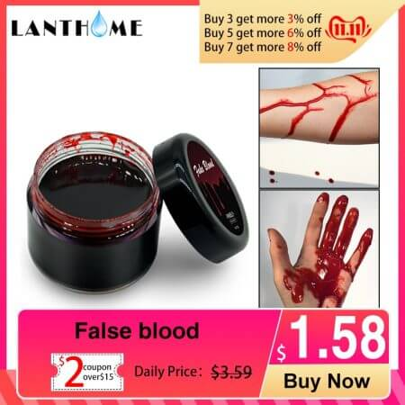 Blood Halloween Fake Wounds Scars Bruises Fake Blood Makeup Body Face Paint Simulation Of Human Vampire Cosplay Ultra-realistic