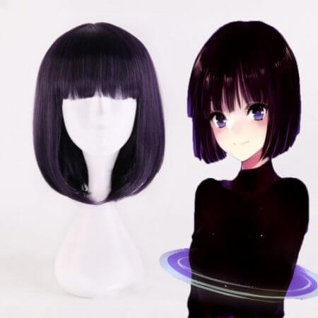 Anime Sailor Moon Cosplay Wigs Sailor Saturn Cosplay Wig Heat Resistant Synthetic Wig Halloween Carnival Party Women Cosplay Wig