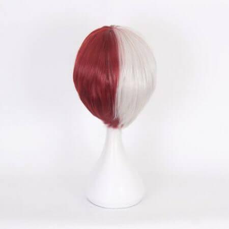 My Hero Academia Boku no Hiro Akademia Shoto Todoroki Shouto White And Red Head Costume Cosplay Wig Accessories 4