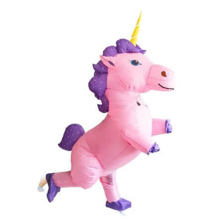 New Adult Kids Inflatable Unicorn Costume Pony Halloween Costumes for Women Men Cosplay Fantasia Party Inflatable Suit Jumpsuit 3