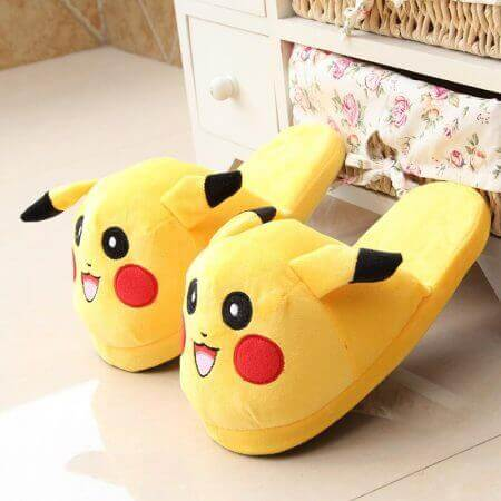 Winter lovely Home Slippers Cartoon Pokemon Warm Shoes Women Cosplay Unisex Cartoon Cotton slippers shoes 1