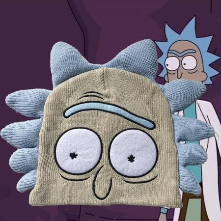 Anime Rick and Morty Hats Cosplay Rick and Morty Costume Accessories Cartoon Warm Beanie Caps Carnival Christmas Party Dropship