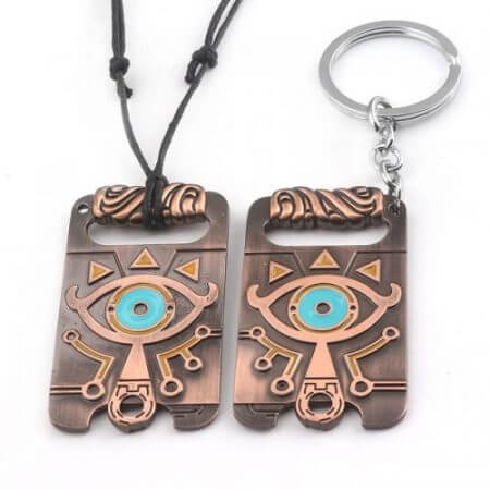2019 New The Legend of Zelda Sheikah Slate Breath of the Wild Keychain Cosplay Pendant Keyring Key Chain Necklace hot
