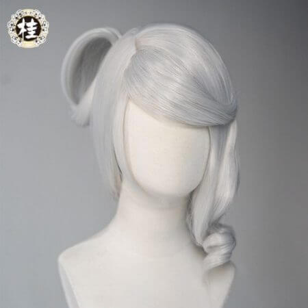 Game League of Legends LUNAR EMPRESS LUX Cosplay Wig Synthetic white Straight Hair 2