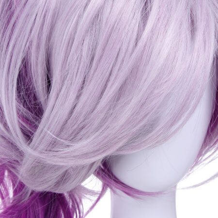 ROLECOS Game Character LOL Cosplay Headwear Luxanna Cosplay 30-45cm Dark Element SKin Cosplay White Purple Cosplay Hair 4