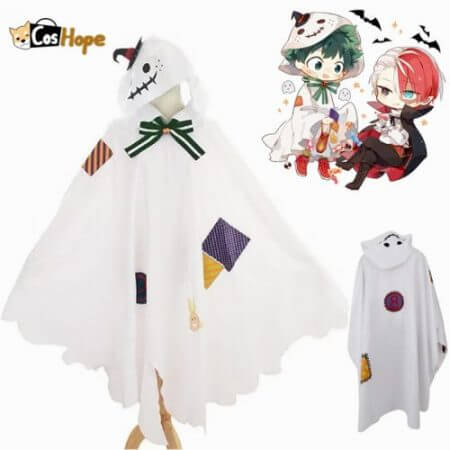 Boku No Hero Academia Ghost Deku Cosplay My Hero Academia Midoriya Izuku Halloween Cosplay Christmas Cloak Cape Robe Costumes fo