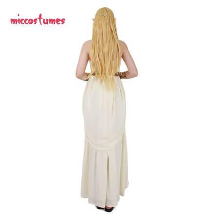 The Legend of Zelda: Breath of the Wild Princess Zelda White Dress Cosplay Costume 4