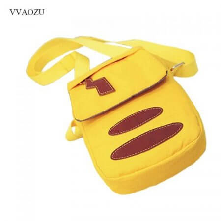 Cartoon Pocket Monster Pokemon Pikachu Messenger Crossbody Bags Women Mini Handbags Shoulder Bag for Girls with Cute Ears Tail 2