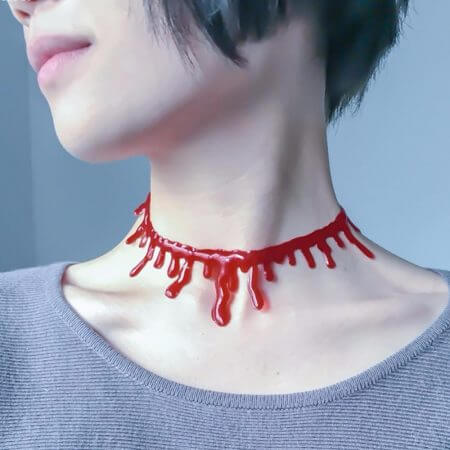 Halloween Decoration Horror Blood Drip Necklace Fake Blood Vampire Fancy Joker Choker Costume Necklaces Party Accessories June12 3