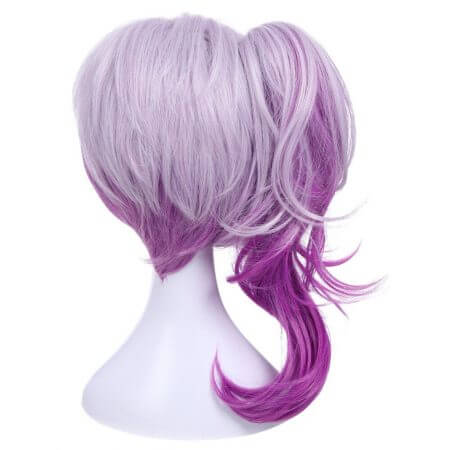 ROLECOS Game Character LOL Cosplay Headwear Luxanna Cosplay 30-45cm Dark Element SKin Cosplay White Purple Cosplay Hair 2