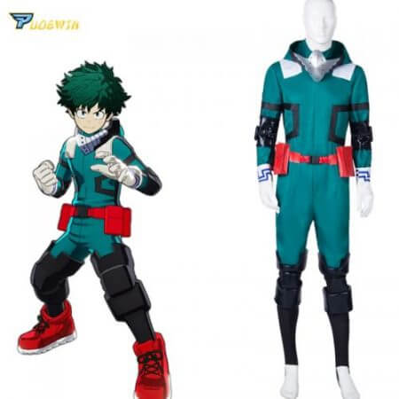 Anime My Hero Academia Cosplay Costume Izuku Midoriya Cosplay Costume Boku No Hero Academia Deku Combats Uniform Halloween Party