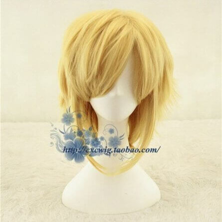 Golden Link Wig Cosplay Wig Legend of Zelda Cosplay Hair Role Play Synthetic Hair for Adult
