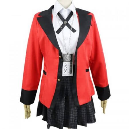 Anime Kakegurui Yumeko Jabami Cosplay Costume Japanese High School Uniform Halloween Party Cosplay Costumes For Women Girls 4