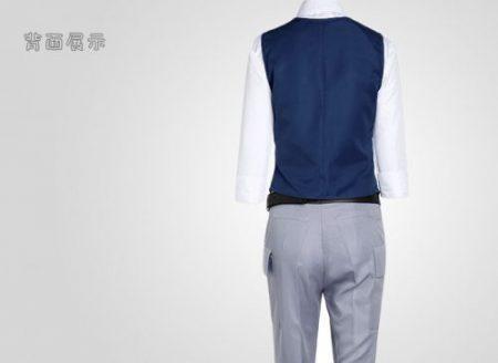 Assassination Classroom Ansatsu Kyoushitsu Shiota Nagisa Cosplay Costumes Unisex Clothes Uniform(Waistcoat + Shirt + Tie + Pant) 3