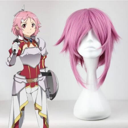 Anime Sword Art Online Cosplay Wig Lisbeth Hair Cosplay Wigs Heat Resistant Synthetic Shinozaki Rika Halloween Carnival Party