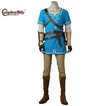 Cosplaydiy The Legend of Zelda Breath of the Wild Link Cosplay Costume Adult Men Halloween Carnival Outfit Full set Custom Made
