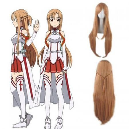 Anime Sword Art Online Asuna Yuuki Dress Cosplay Costumes Uniform for Halloween SAO Asuna Battle Suit Outfits Full Set with Wig 5