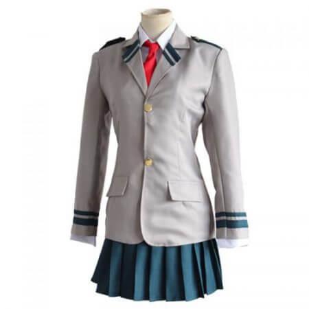 Boku No Hero Academia AsuiTsuyu Yaoyorozu Momo School Uniform My Hero Academy OCHACO URARAKA Midoriya Izuku Cosplay Costume 2