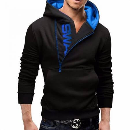 Assassins Creed Hoodies Men Fashion Brand Zipper Letter Print Sweatshirt hip hop tracksuit Hooded Jacket streetwear black Hoodie 3